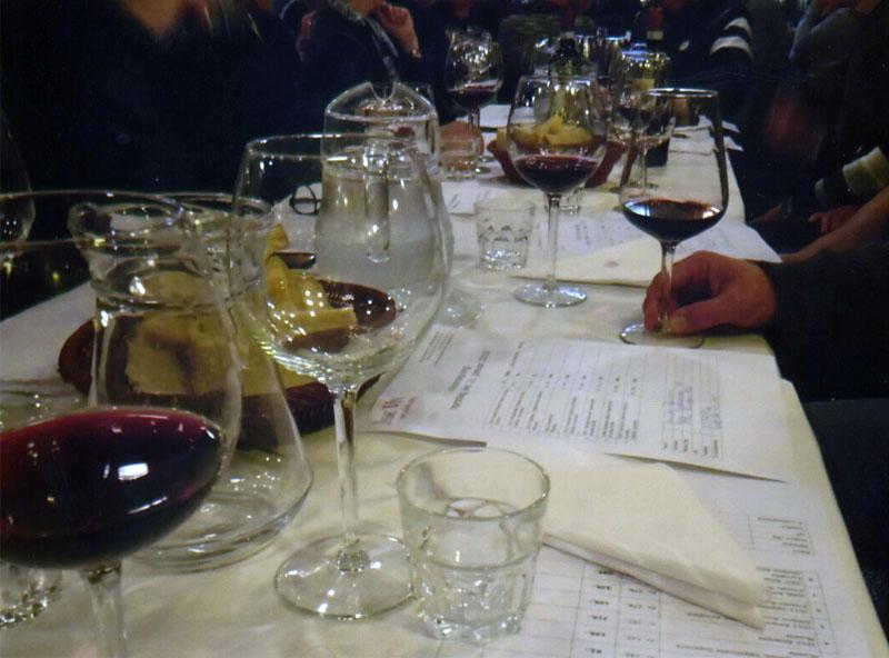 Veneto vine i glassene