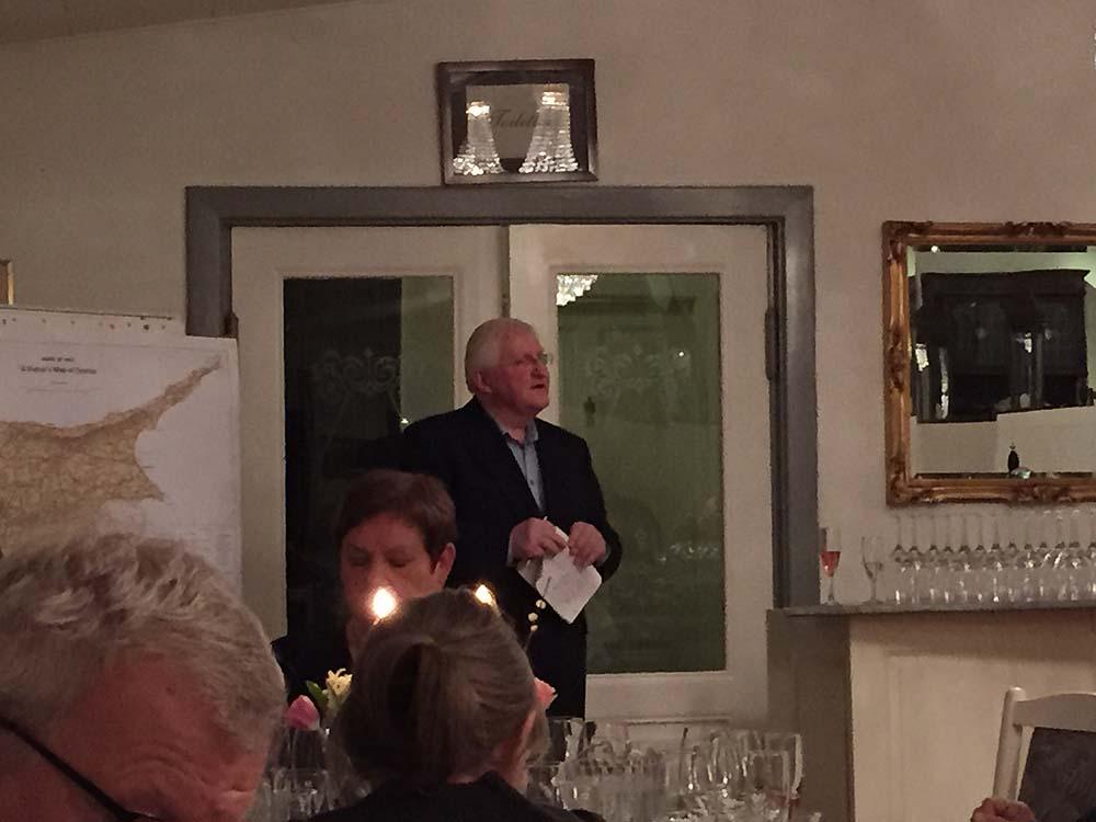 Bjarne Ørsted holdt en flot cypriotisk aften